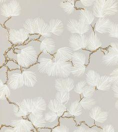 Luxury Wallpaper, Unique Wallpaper, Grey Wallpaper, Designer Wallpaper, Pattern Wallpaper, White And Gold Wallpaper, Powder Room Wallpaper, Wallpaper Designs, Tissu Chinoiserie