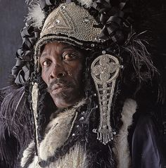 From the astonishing set of Mardi Gras Indian portraits by Christopher Porche West.