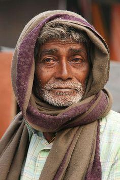 India - Orissa. Pilgrim at Puri (Jagannath temple).