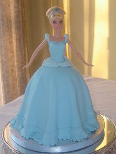 Cinderella Cake with fondant dress