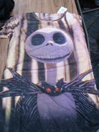 Disney Nightmare Before Christmas Jack Skellington Shirt Jrs sz XL Free Shipping NWT