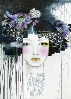 Website of artist Anahata Katkin. Founding artist of PAPAYA! Art Journal Pages, Art Journaling, Art Journal Inspiration, Art Inspo, Papaya Art, Medium Art, Face Art, Mixed Media Art, Altered Art