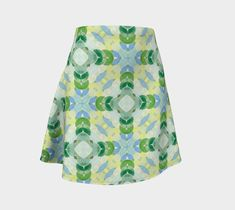 "Flare Skirt ""Fall Leafs"" by Juca's Store"