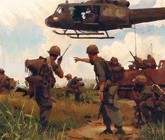 Vietnam War Study, jason scheier on ArtStation at https://www.artstation.com/artwork/llmea