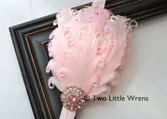 Eva Soft Feather Headband  Light Pink Feather by twolittlewrens, $12.00