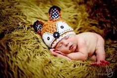 Fox chapeau chapeau nouveau-né bébé bébé par treslittlekings
