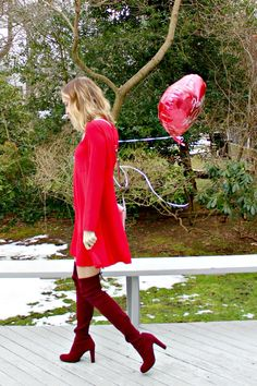 red valentine's day outfit