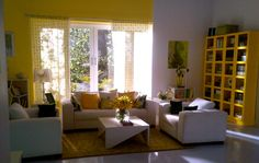 Bright, Sunny, Yellow, Living room, Styled by Niyoti