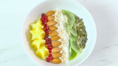 <p>Treat yourself to BBC Good Food's easiest ever smoothie bowl. Packed full of fruit and flavour, this beautiful bowl makes a filling breakfast or brunch</p>