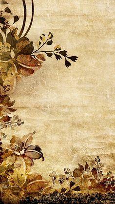Paper Background Design, Old Paper Background, Flower Background Wallpaper, Fall Wallpaper, Background Vintage, Flower Backgrounds, Background Patterns, Textured Background, Wallpaper Backgrounds