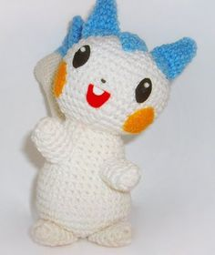 crochet pokemon  | Crochet Pattern - Pachirisu Pokemon from the Amigurumi Free Crochet ...