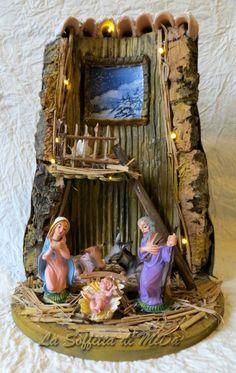 56 best nacimientos belen images on pinterest christmas - Tegole decorate istruzioni ...