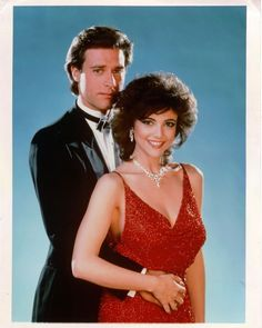 John James as Jeff Colby and Emma Samms as Fallon Colby. Dynasty Tv Series, Dynasty Tv Show, Fallon Dynasty, Romy And Michelle, Der Denver Clan, Linda Evans, Joan Collins, Star Wars, Vanities