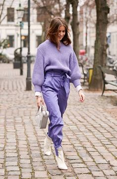 "WHO WHAT WEAR: 5 Color Trends From Street Style | ""5 Random Colors That Are About to Be Everywhere"" - Literal Lavender"