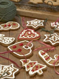 Iced Gingerbread Cookie Ornaments