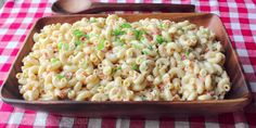 Delightfully Tasty And Creamy Macaroni Salad Recipe - Daily Cooking Recipes Classic Macaroni Salad, Best Macaroni Salad, Macaroni And Cheese, Macaroni Salads, Grilled Romaine Salad, Salads To Go, Summer Salads, Food Wishes, Daily Meals
