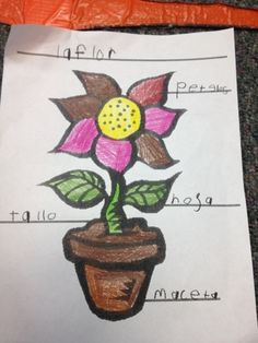 Spring has arrived, so I'm trying to add in as many Spring Themed activities as possible. My kids love to color, so I created a flower c. Dual Language Classroom, A Classroom, Spanish Songs, World Languages, Bilingual Education, Preschool Lessons, Center Ideas, Kids Songs, Teaching Ideas