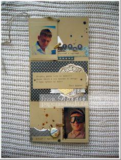 """Крафтовая, мужская, """"хулиганская"""" открытка в день рождения другу. Внутренний разворот."""