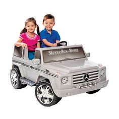 12 Volt Mercedes Benz G55 Silver 2 Seater Ride On