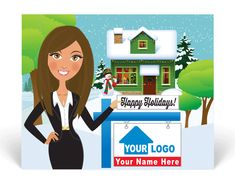 Real Estate Holiday Postcards for Realtors