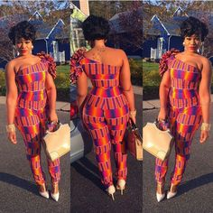 ankara stil Latest Ankara Jumpsuit To Try in October African Fashion Designers, African Print Fashion, Africa Fashion, African Fashion Dresses, African Prints, Ankara Fashion, Fashion Skirts, African Attire, African Wear
