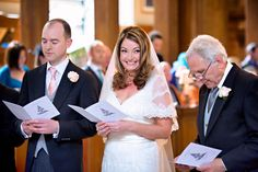 Luisa doesn't try to hide her wedding day bliss at St Bride's Church, Fleet Street, London.