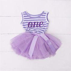 First Birthday Sleeveless Tutu Dress