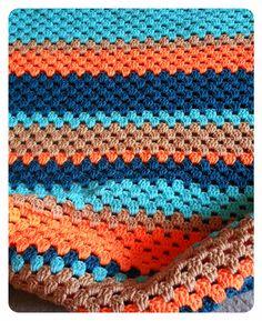 Tiny Traveler Blanket - using traditional Granny Stripes #crochet #handmade #baby