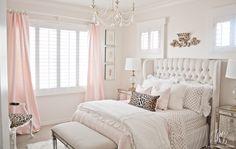 Pink and gold bedroom by Randi Garrett Design