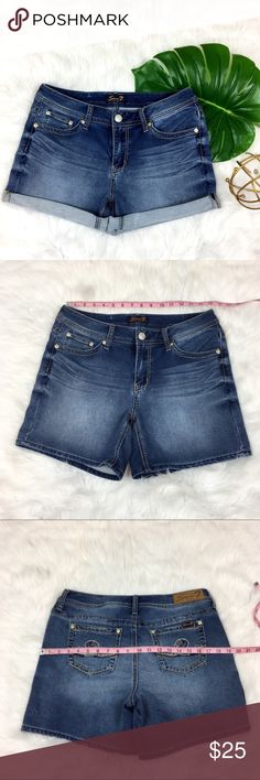 Seven7 Jean Shorts Seven7 Jean Shorts. Size 10. All measurements are in listing photos. Very stretchy. Good used condition. Seven7 Shorts Jean Shorts