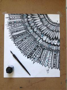 By Kayla Marie @_marieart_ Geometric Drawing, Geometric Art, Colorful Drawings, Art Drawings, Mandala Artwork, Art Africain, Square Art, Madhubani Painting, Doodle Inspiration