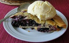 This Blackberry Pie will not last long. I made it on Saturday, this is Sunday, and there is one piece left. Blackberries are such a favorite in my house. We love anything with a blackberry in it...