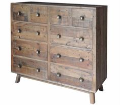 Nilsson Rustica Large Chest of Drawers - Reclaimed wood storage, Modish Living