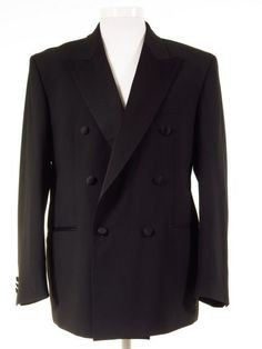 Ex-Hire Mens Double Breasted Dinner Jacket - Dinner Suits, Trousers & Tuxedos - All Sizes Tuxedo Suit, Tuxedo Jacket, Suit Jacket, Dinner Suit, Dinner Jacket, Men Formal, Formal Wear, Evening Trousers, Morning Suits