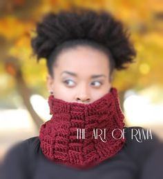 """The Jewylz"" Crochet Basketweave Cowl"