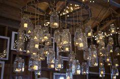 hanging mason jar candle holders