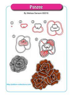 Doodle Patterns 296463587961936059 - Panzee par Melissa Sansom Source by Zentangle Drawings, Doodles Zentangles, Zentangle Patterns, Doodle Drawings, Doodle Art, Flower Drawings, Zen Doodle Patterns, 3d Drawings, Tangled Flower