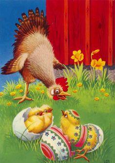 "Photo from album ""Lars Carlsson"" on Yandex. Easter Bun, Easter Eggs, Decoupage, Vintage Cards, Vintage Images, Paint Cards, Easter Parade, Coq, Vintage Easter"