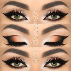 Looking for more examples of perfect winged eyeliner I found this. Love it <3