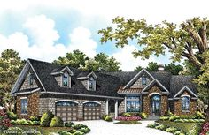 House Plan The Hunter Creek by Donald A. Gardner Architects 2000 sqft with covered patio and screened porch!