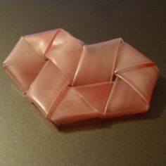 Fold a straw into a heart