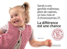 Tutu Rose, Down Syndrome, 21 Mars, Marie, Health Care, 2013, Words, France, Awareness Campaign