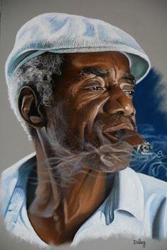 Coup de cœur du salon/exposition de peinture toutes techniques sur www.myrankart.com  Le Cubain by Didier LE GOUESTRE