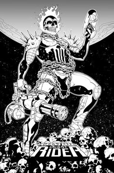 Cosmic Ghost Rider by Will Sliney - Halloween/Cosplay - Populer Tattoo Pin Share Ghost Rider Johnny Blaze, Ghost Rider Marvel, Comics Love, Image Comics, Cosplay Characters, Marvel Characters, Marvel Dc Comics, Marvel Heroes, Gohst Rider