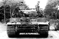 The schwere SS-Panzer-Abteilung 101 arrived in Normandy from Paris on 12 June 1944 after a road march conducted mostly during the night due to the Allied air threat. This is Tiger '222' after arrival in its designated assembly area around...