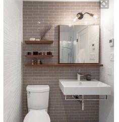 15 Modern Bathroom Vanities For Your Contemporary Home Midcentury modern bathroom Ikea bathroom Powder room Bathroom inspiration Specchio bagno Mirror ideas Beautiful Small Bathrooms, Amazing Bathrooms, Contemporary Bathrooms, Kitchen Contemporary, Contemporary Apartment, Bad Inspiration, Bathroom Inspiration, Bathroom Ideas, Bathroom Shelves