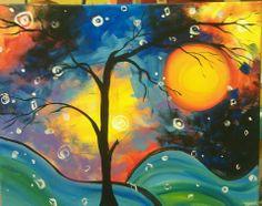 Colorful sky tree
