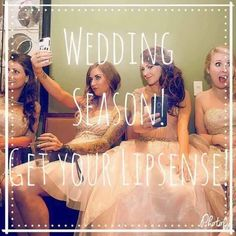 Any of you getting married SOON?!?  Shop LipSense today for your entire bridesmaid list & YOU!  PayPal accepted