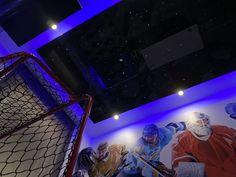 children's hockey room Artgips Hockey Room, Plasterboard, Logs, Ceilings, Concert, Design, Art, Art Background, Kunst