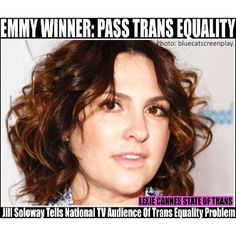 """LEXIE CANNES STATE OF TRANS -- Once again, the """"Transparent"""" duo, creator/director Jill Soloway and actor Jeffrey Tambor, picked up another pair of awards for their involvement in the transgender-t..."""
